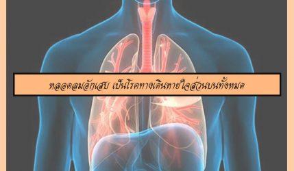 หลอดลมอักเสบ เป็นโรคทางเดินหายใจส่วนบนทั้งหมด