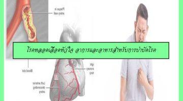 โรคหลอดเลือดหัวใจ อาการและอาหารสำหรับการบำบัดโรค